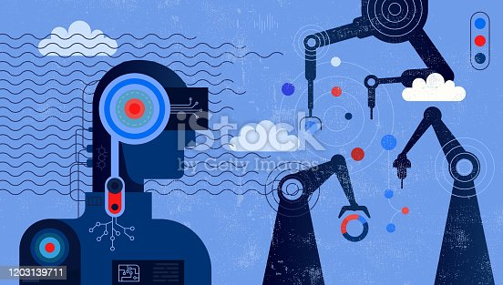 istock Artificial Intelligence Controlling Robotic Arms 1203139711
