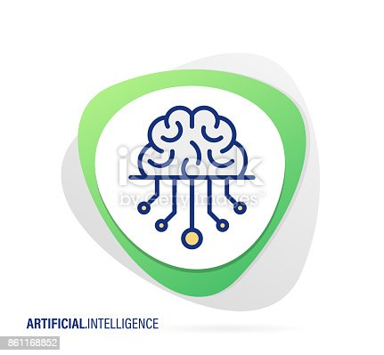 Vector Illustration for Artificial Intelligence Icon