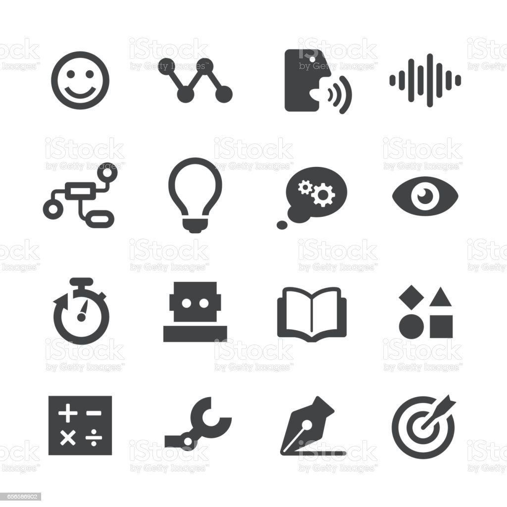 Artificial Intelligence Icons - Acme Series vector art illustration