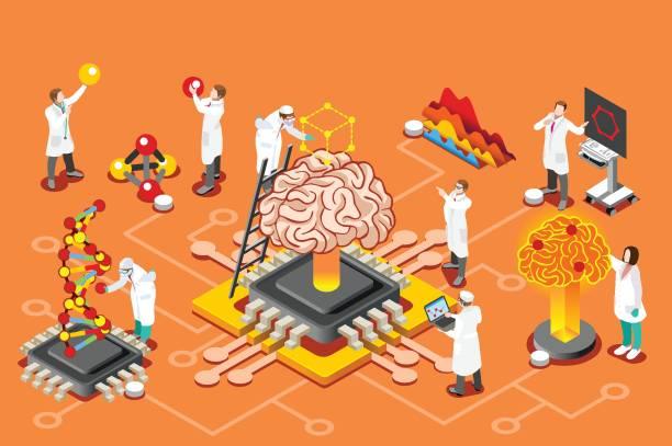 Artificial intelligence stock illustrations