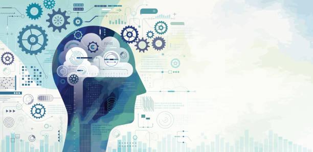 Künstliche Intelligenz lernen – Vektorgrafik