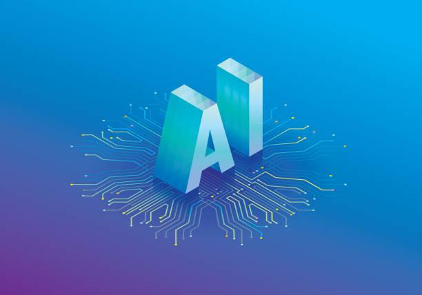 artificial intelligence processor - ai stock illustrations