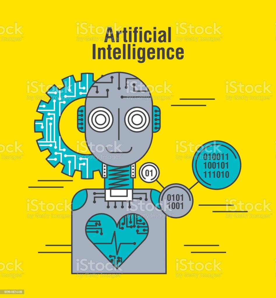 Artificial Intelligence Robot Herzschlag Gesundheitstechnik Stock ...