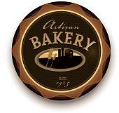 Artisan bakery design label