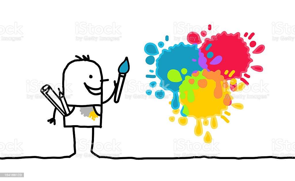artist & colors royalty-free stock vector art