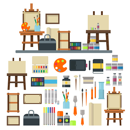 Artist icons vector set.