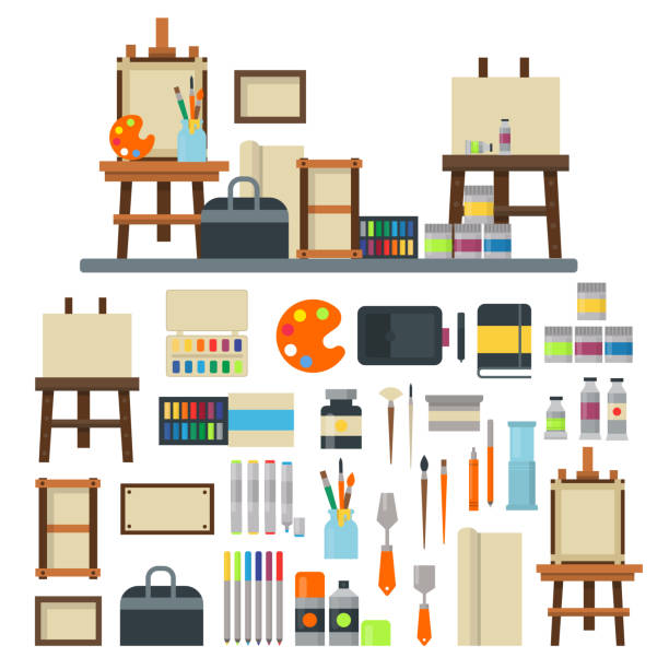 Top 60 Craft Supplies Clip Art Vector Graphics And Illustrations