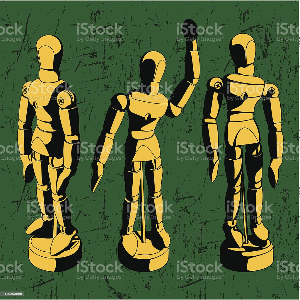 Artist Mannequin vector art illustration
