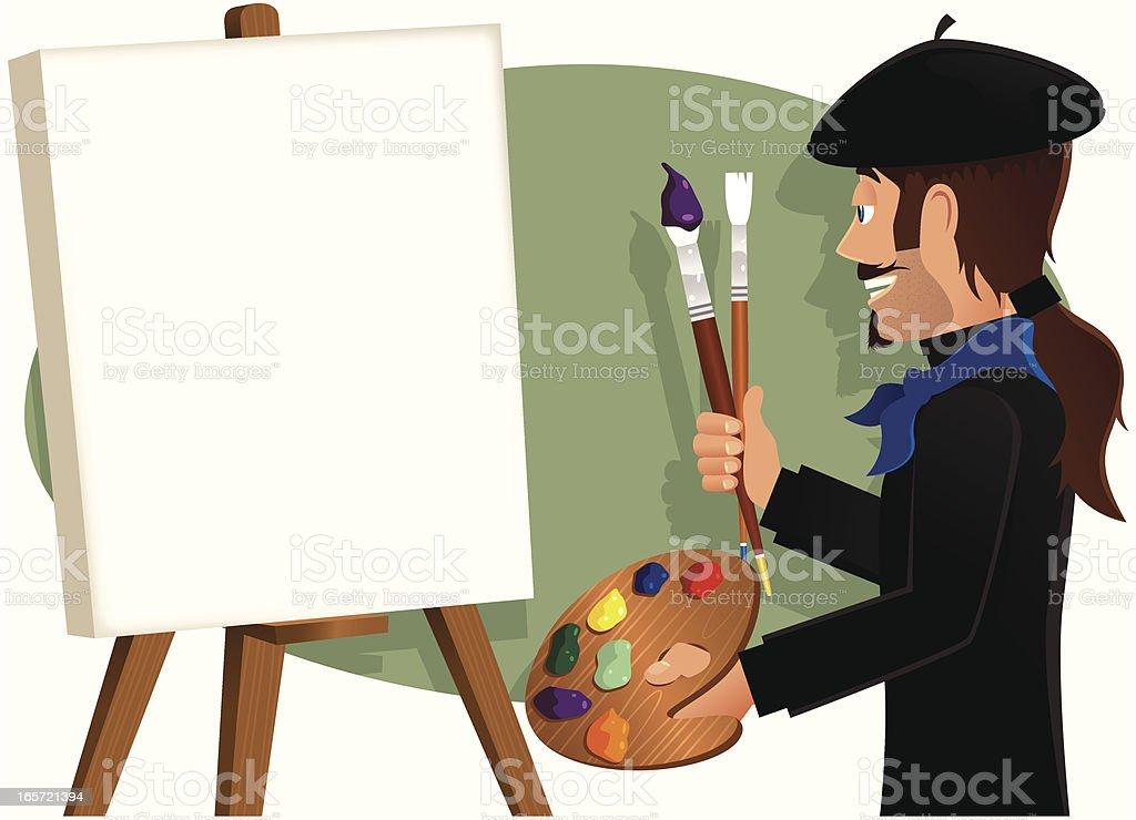 Peinture de l'artiste de toile de fond vierge - Illustration vectorielle