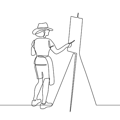 Artist painting picture