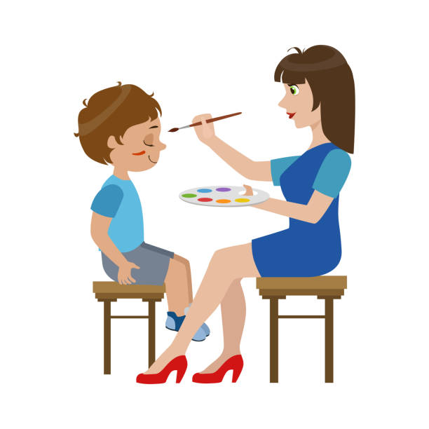 Best Face Painting Illustrations, Royalty-Free Vector