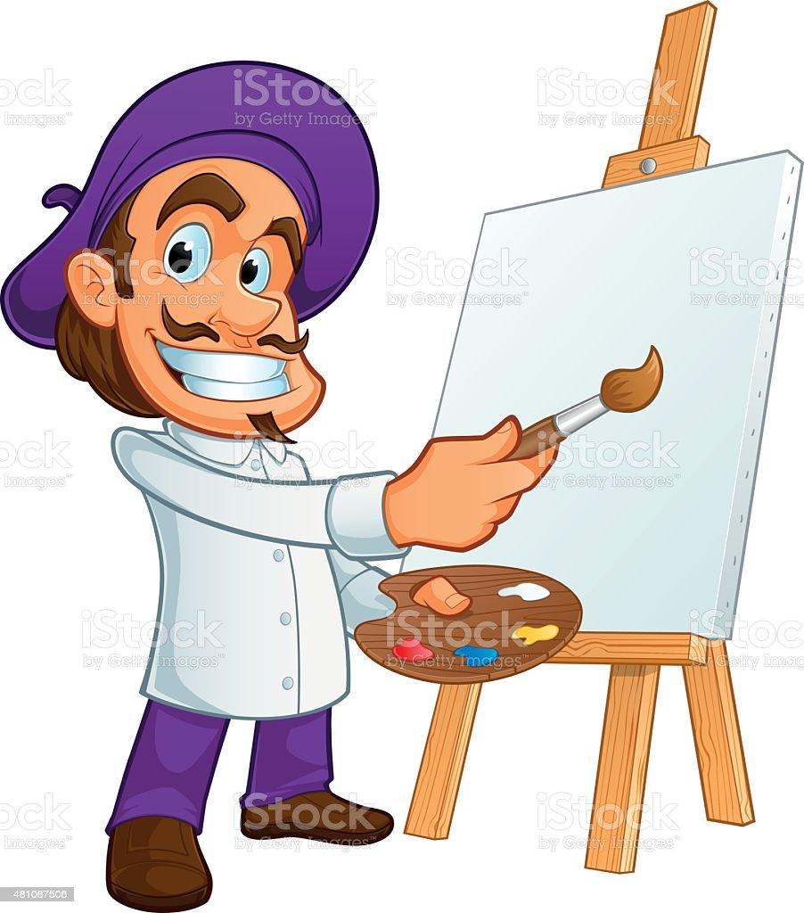 L'artiste - Illustration vectorielle