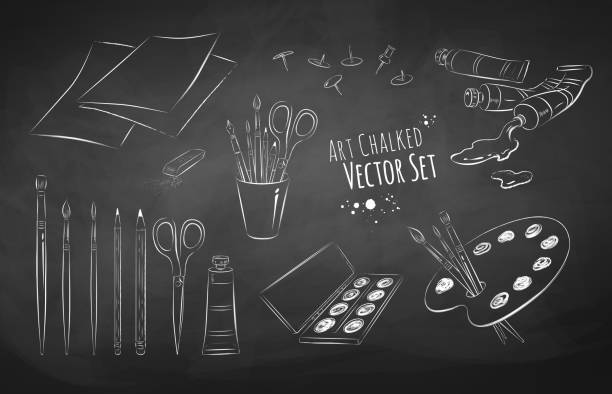 Artista vector conjunto. - ilustración de arte vectorial