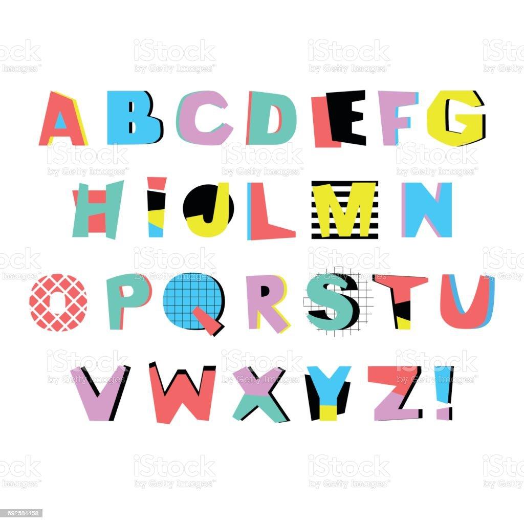 Alphabet Artistique alphabet artistique dans un style géométrique branché police de