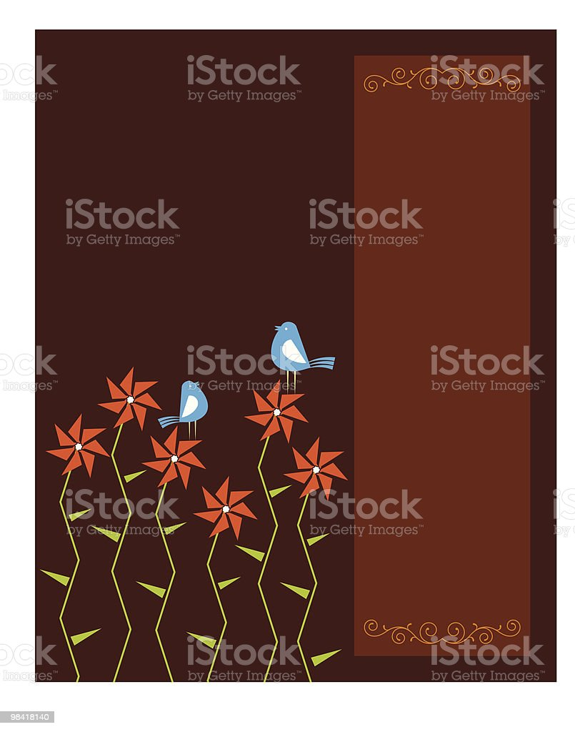 Artistic Bird, Flower, royalty-free artistic bird flower stock vector art & more images of animal