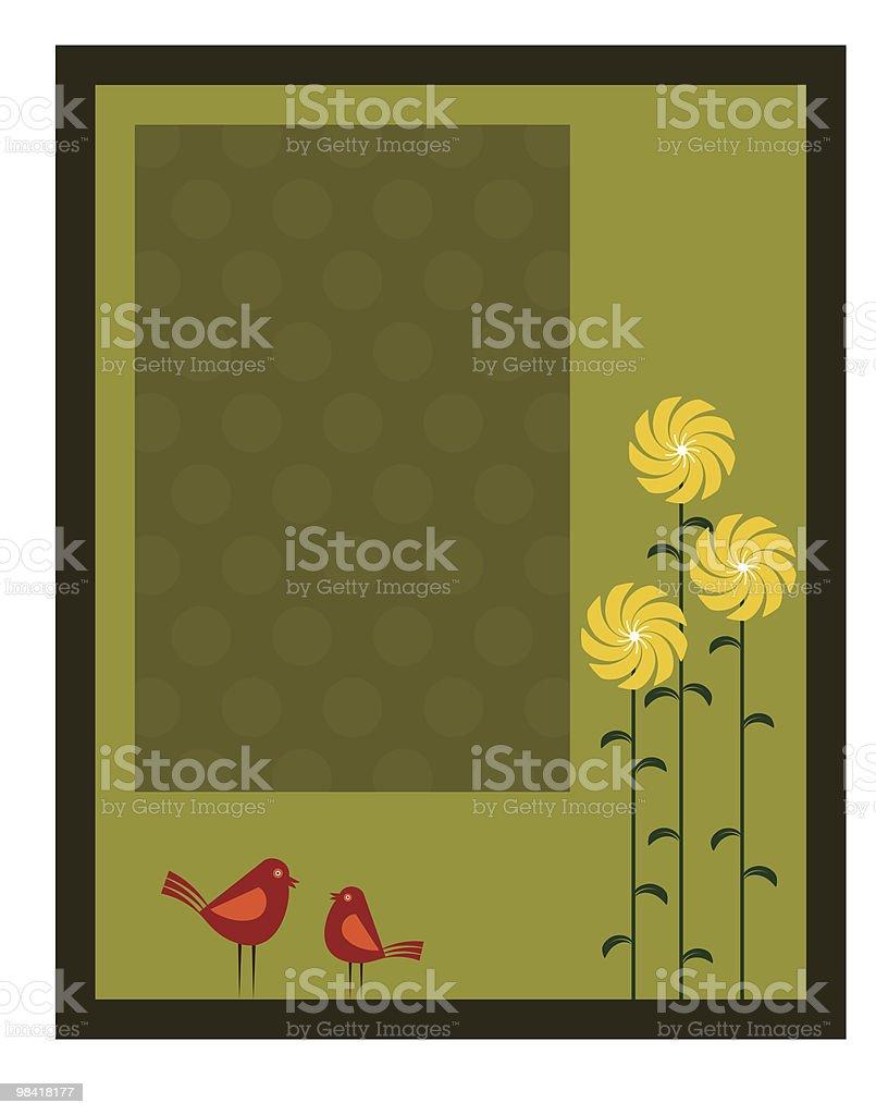 Artistic Bird, Flower, royalty-free artistic bird flower stock vector art & more images of animal