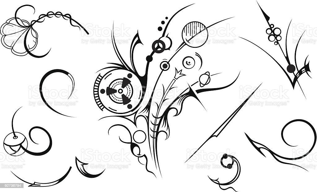Künstlerische Design-Elemente Lizenzfreies künstlerische designelemente stock vektor art und mehr bilder von abstrakt