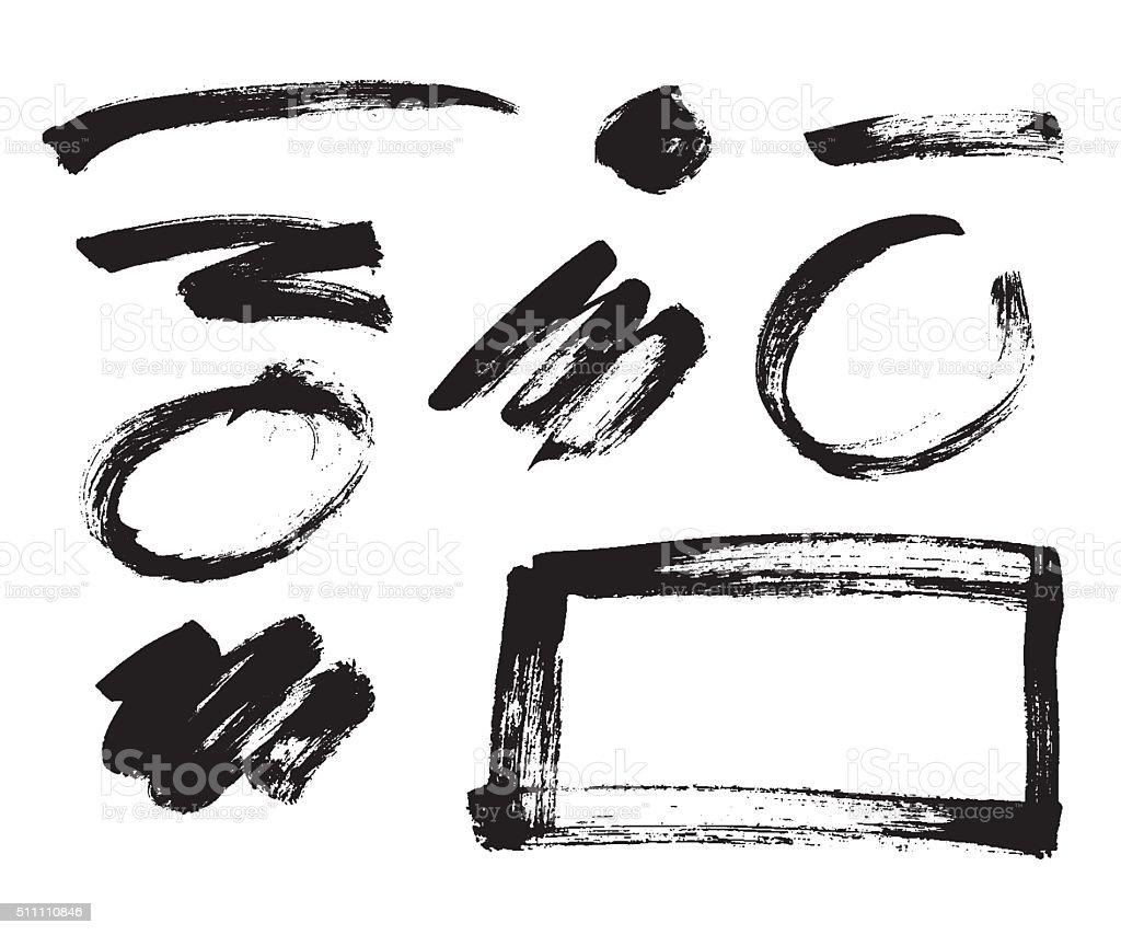 Artistic grunge brush texture vector art illustration