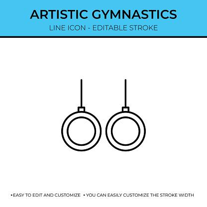 Artistic Gymnastics Thin Line Icon