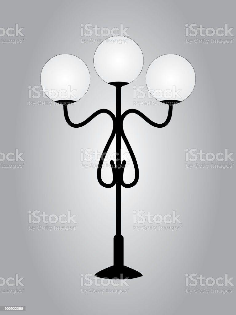 artistic lamp post on the street road stock vector art more images