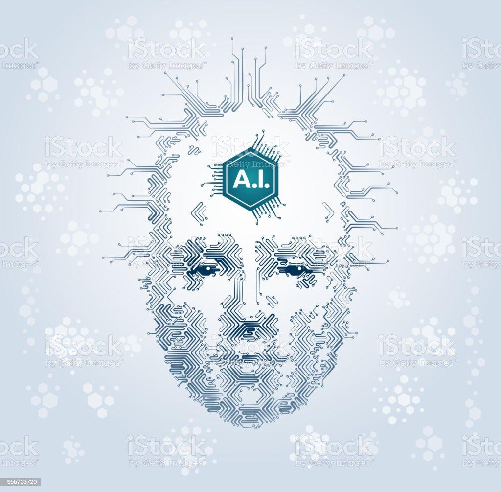 Artistic Representation Of Artificial Intelligence