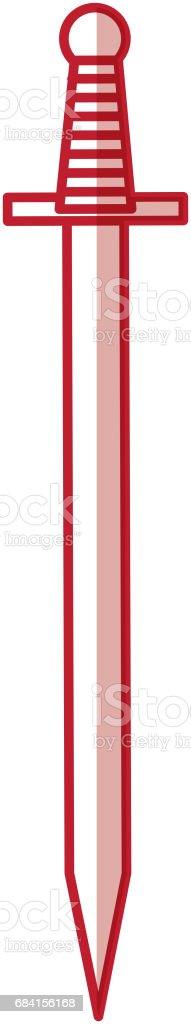 konstnärliga svärd isolerade ikonen royaltyfri konstnärliga svärd isolerade ikonen-vektorgrafik och fler bilder på antik