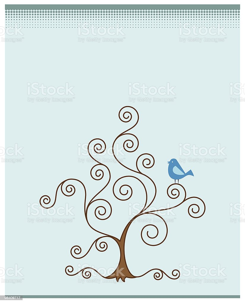 Artistic Tree, Bird royalty-free artistic tree bird stock vector art & more images of animal