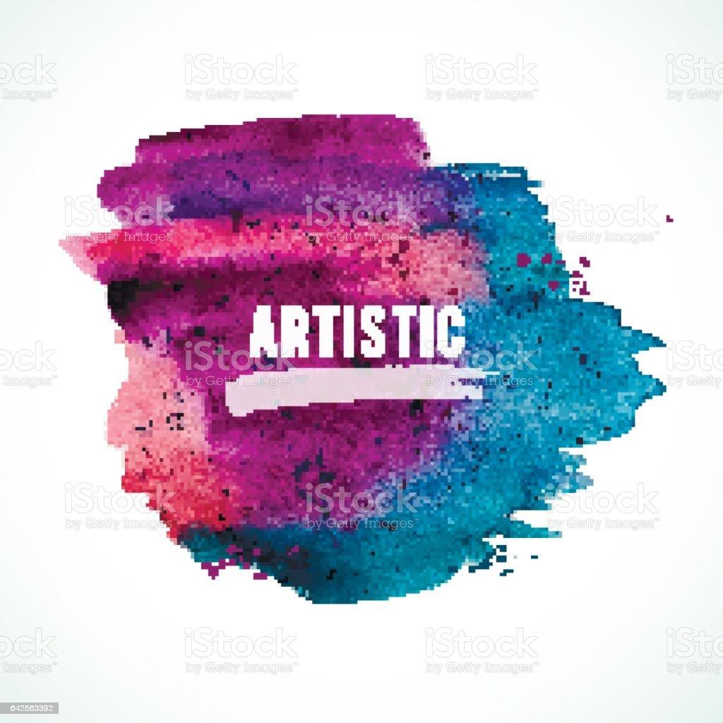 Artistic-violet-dark vector art illustration