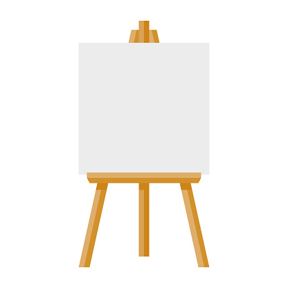 Artist's Canvas Icon on Transparent Background