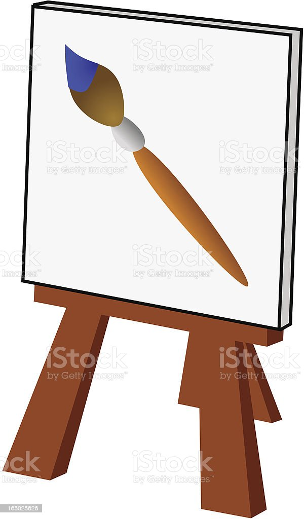 Artist's Easel and Canvas royalty-free artists easel and canvas stock vector art & more images of art