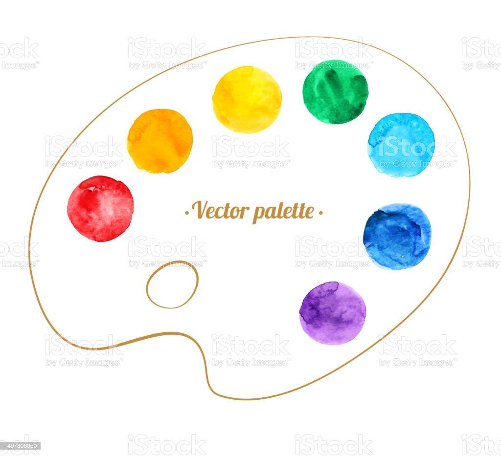 Artist's palette. vector art illustration