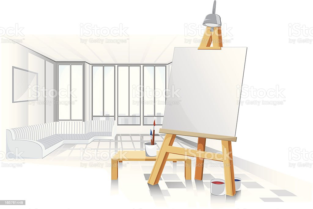 Artists studio. royalty-free stock vector art