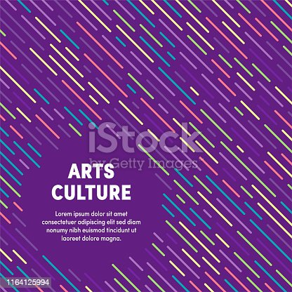 Trendy and artistic design for arts culture. Eye catching vector illustration template to boost website, app, presentation or poster design.