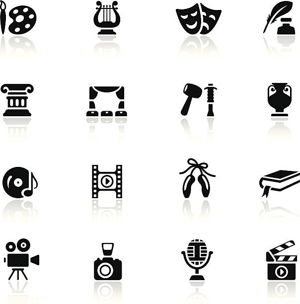 Arts Icon Set vector art illustration