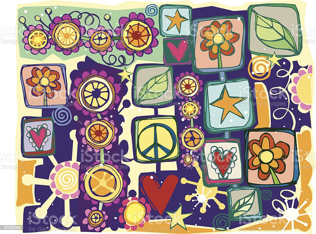 Artsy Eco Doodles Background vector art illustration