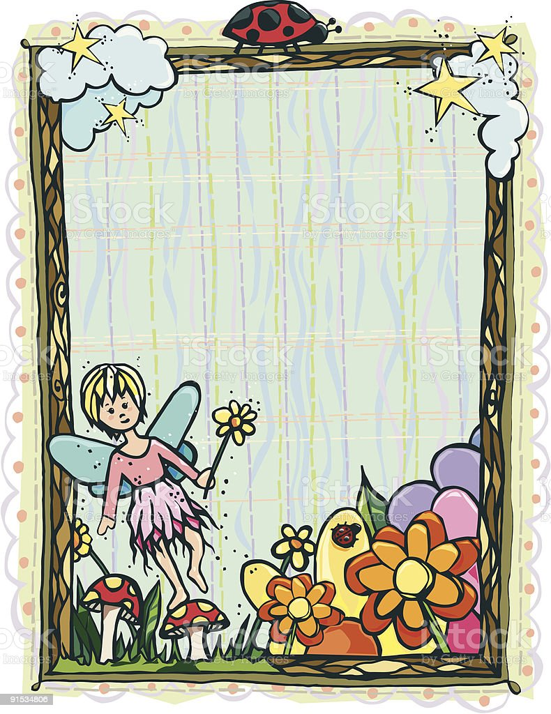 Artsy Fairy Frame vector art illustration