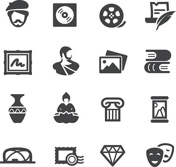 illustrations, cliparts, dessins animés et icônes de œuvres d'art icônes-série acme - camera sculpture