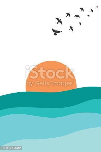 artwork sky and sea background