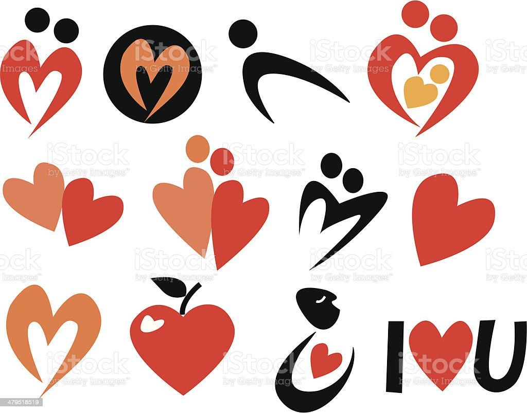 Arty simple love symbols stock vector art more images of arty simple love symbols royalty free arty simple love symbols stock vector art amp biocorpaavc
