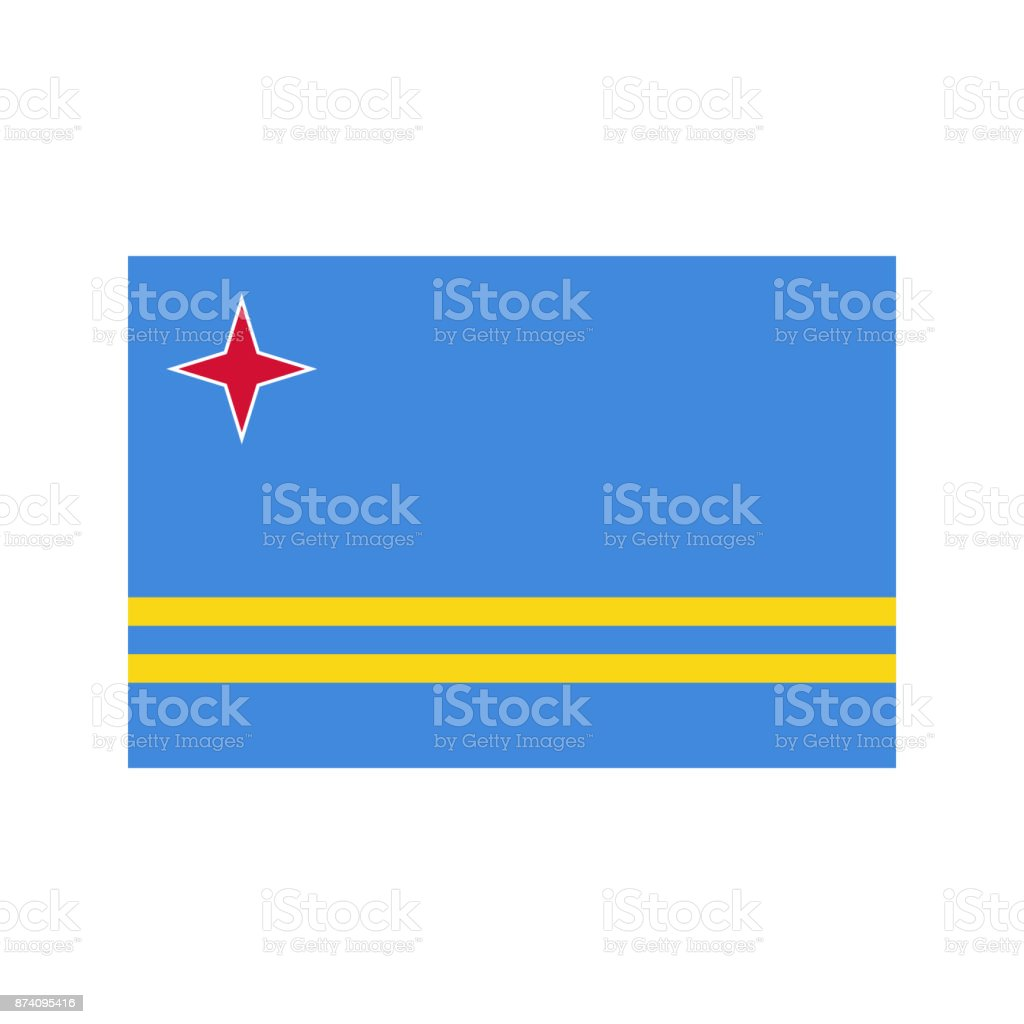 Aruba flag illustration vector art illustration