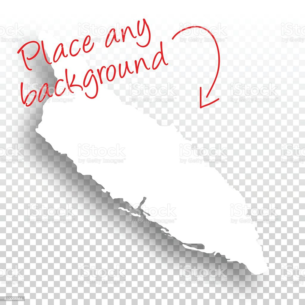 Aruba Map for design - Blank Background vector art illustration