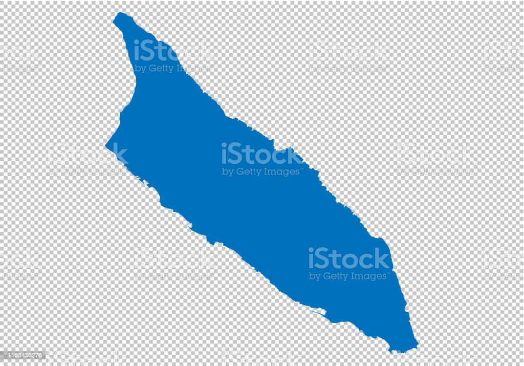 Aruba Map Hohe Detaillierte Blaue Karte Mit ...