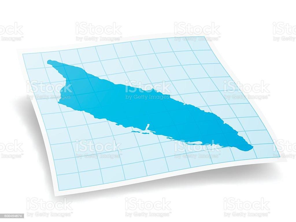 Aruba Map isolated on white Background vector art illustration