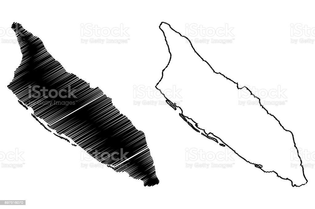 Aruba map vector vector art illustration