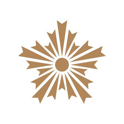 Asahi chapter golden symbol. Japan Police Crest sign