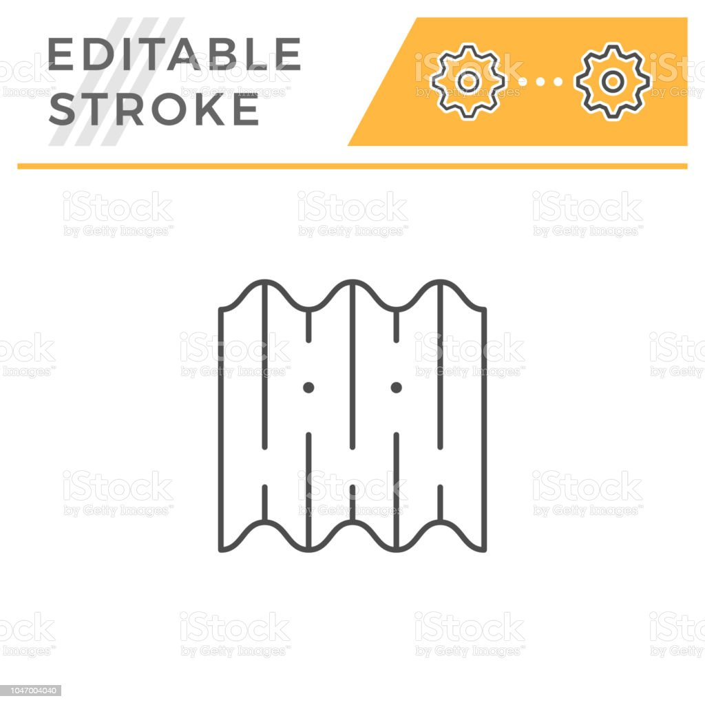 Asbestos roof tile line icon vector art illustration
