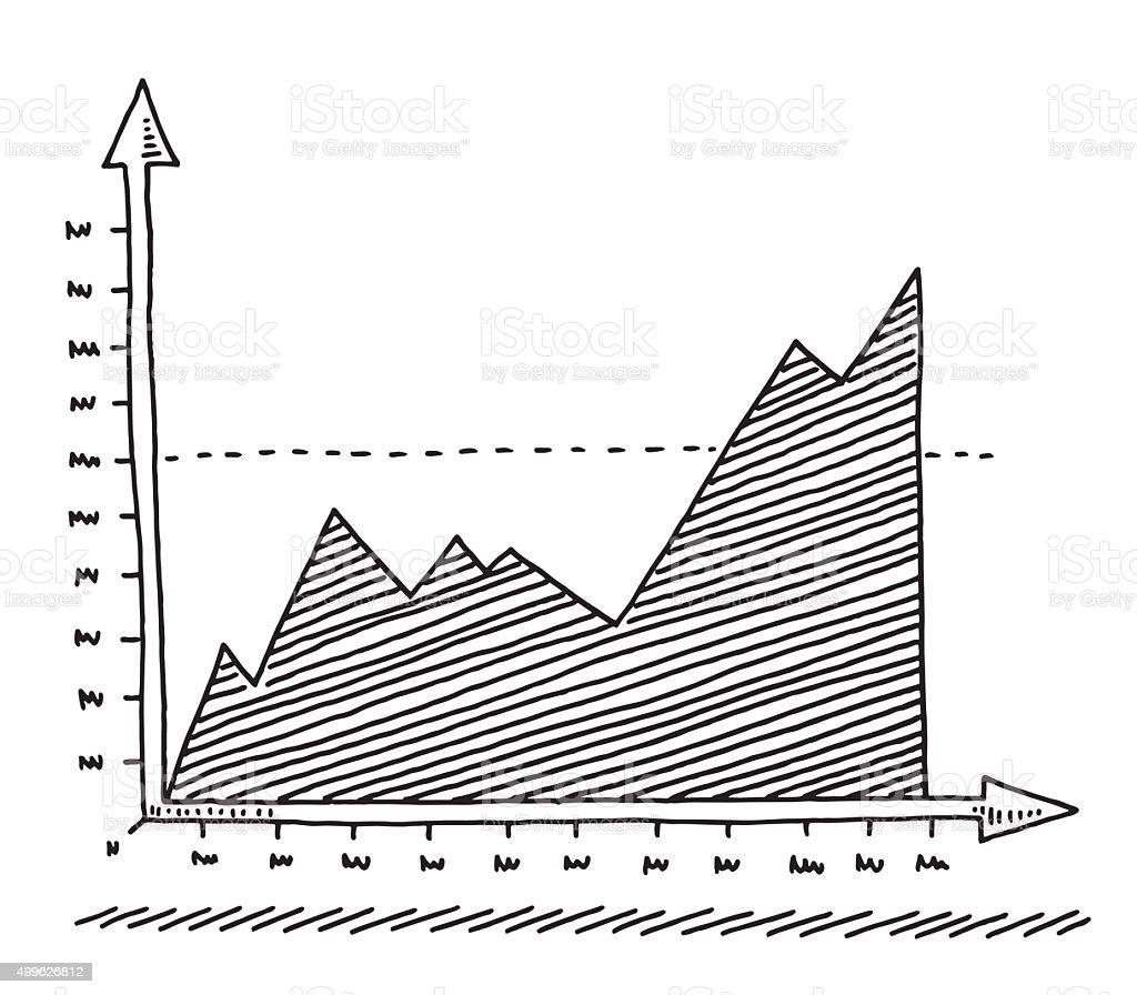 Aufsteigender Diagramm Diagramm Zeichnen Vektor Illustration ...