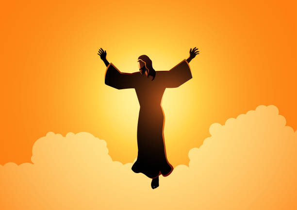 ilustrações de stock, clip art, desenhos animados e ícones de ascension of jesus christ - jesus cristo