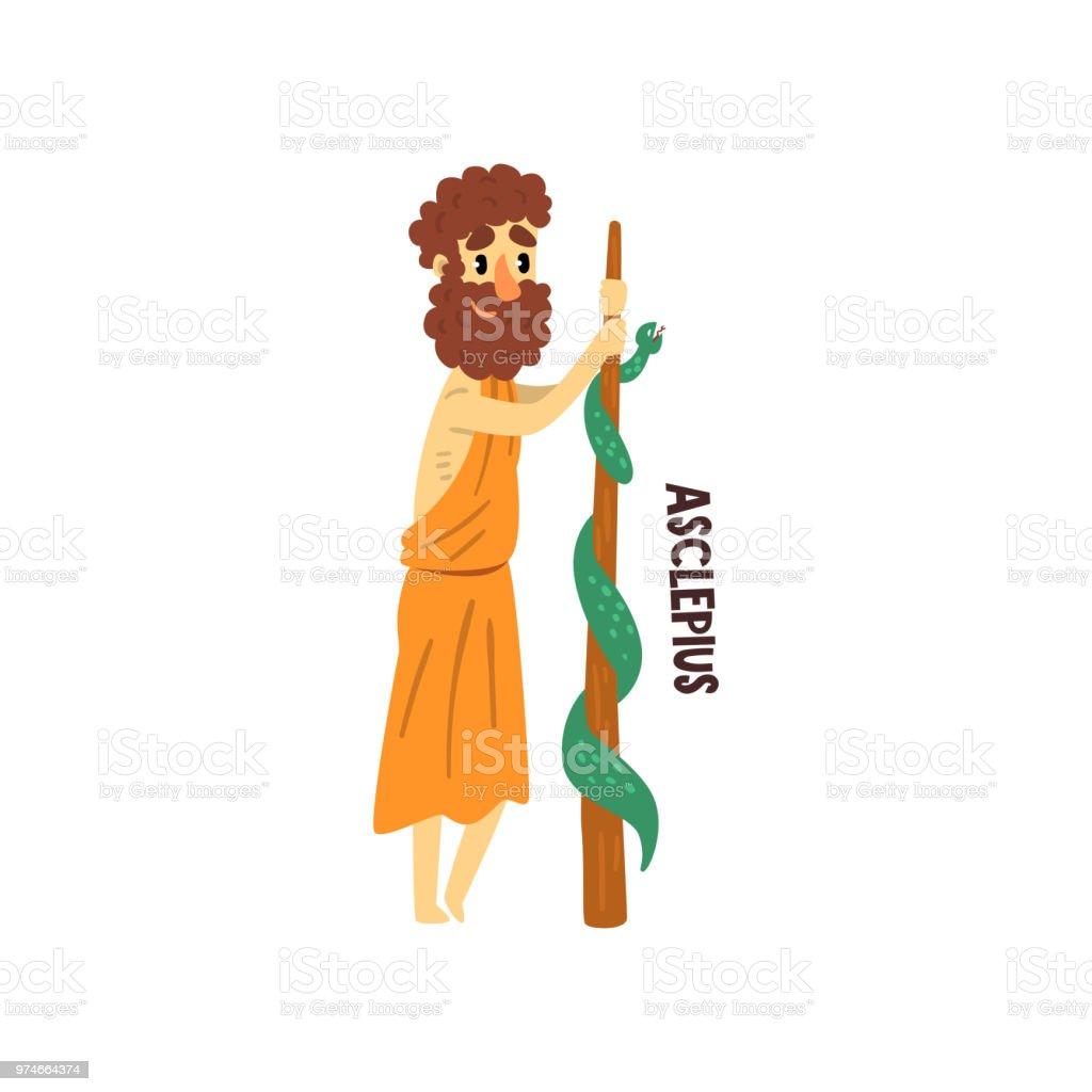 35991a1c4 Ilustración de Dios Griego Olímpico De Asclepio Antigua Grecia ...