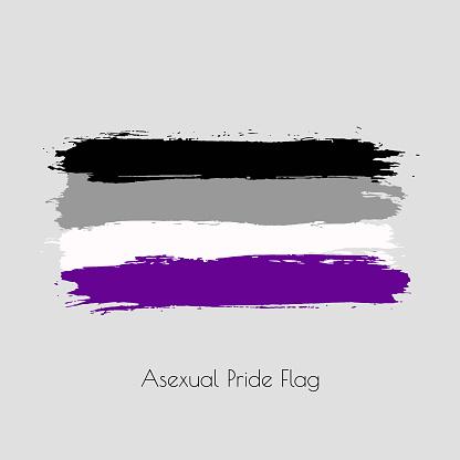 Asexual lgbt vector watercolor flag